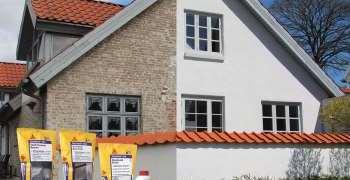 Enkel fornying av pusset fasade