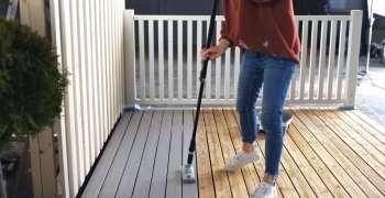 Pent og varig med EasyPad på terrassen